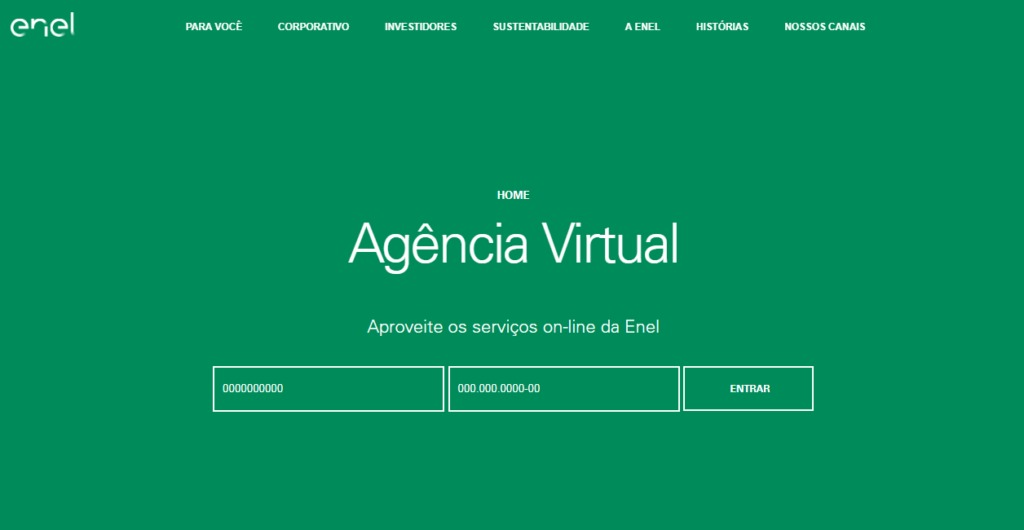 2 via celg enel agencia virtual