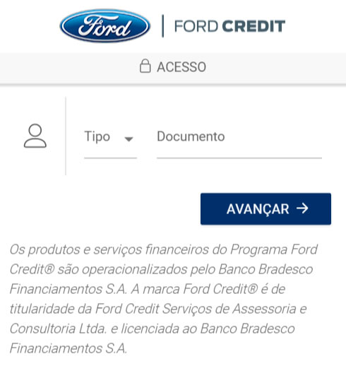 boleto do consórcio Ford